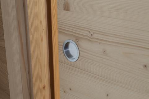 Dettaglio porte interne scorrevoli legno