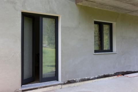 Serramenti legno alluminio due ante
